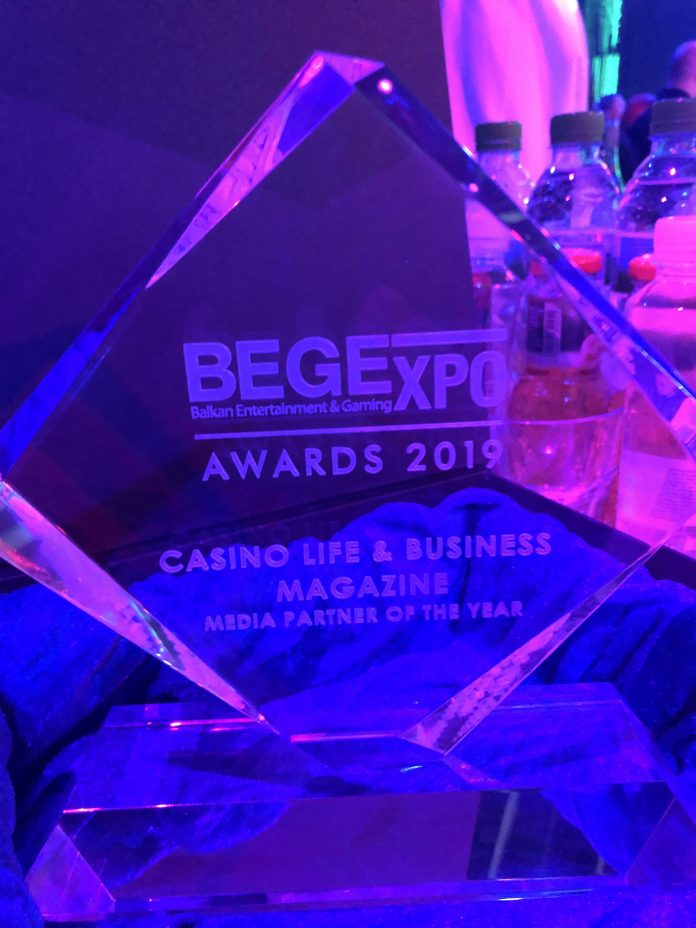 Premiu Award for pentru Casino Life & Business Magazine