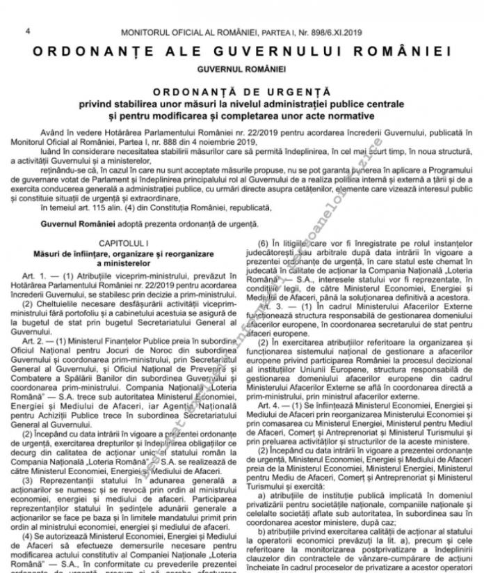 Ministerul de Finante si Ministerul Economiei