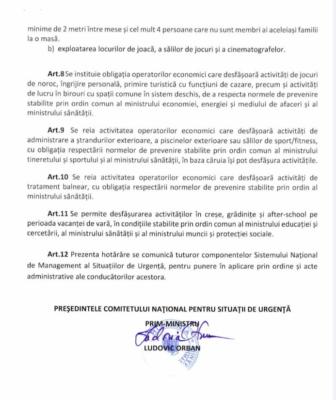 Hotărârea Comitetului Național pentru Situații de Urgență