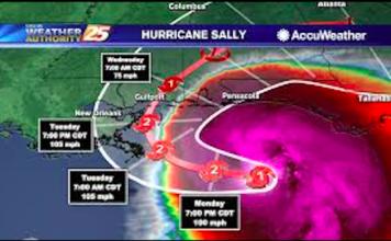 Hurricane Sally Uraganul Sally