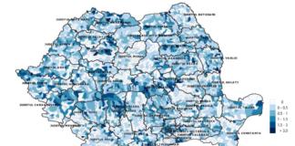 Incidența cazurilor de covid-19 la 1000 locuitori