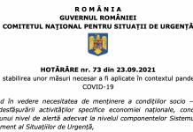 HOTĂRÂREA CNSU nr. 73